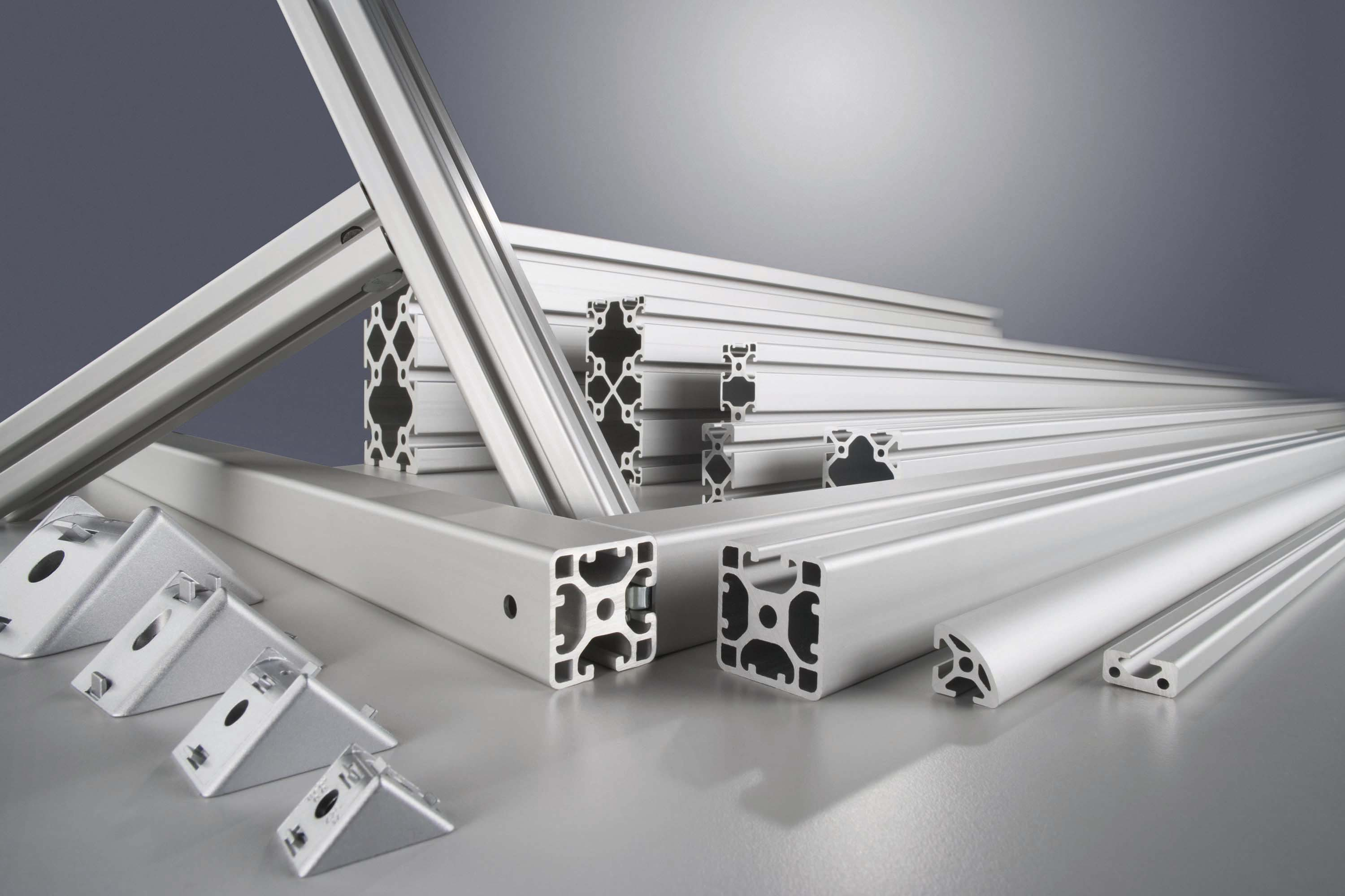 Aluminium profiles and accessories